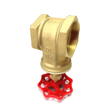 Steel handled brass gate valve